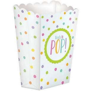 Amscan Baby Shower Paper Popcorn Boxes