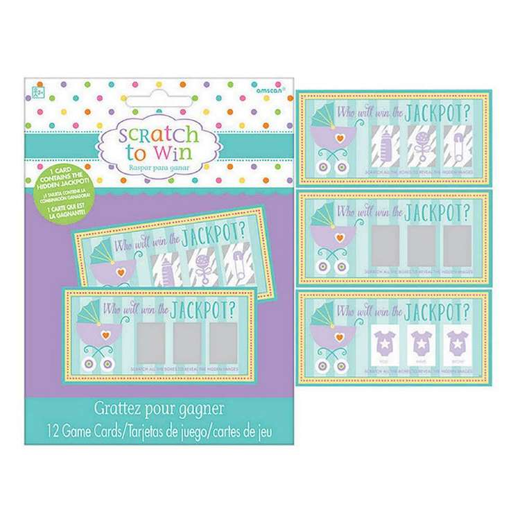 Amscan Baby Shower Scratch Off Cards