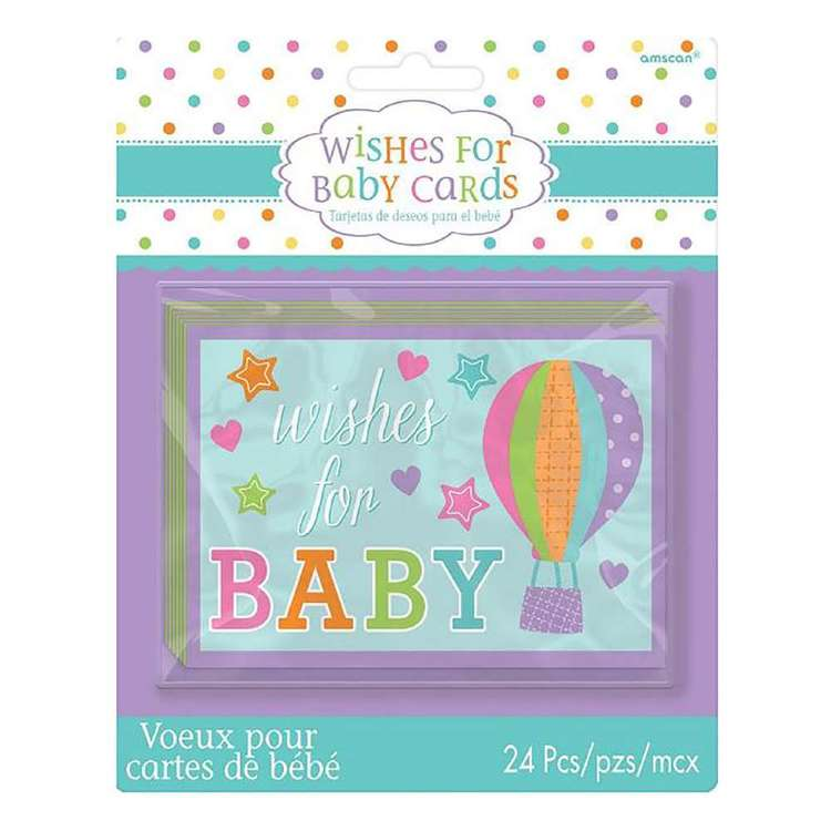 Amscan Baby Shower Wishes For Baby Cards