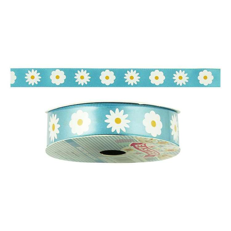 Happy Easter Daisy Satin Ribbon