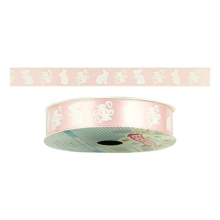 Happy Easter Rabbit Satin Ribbon