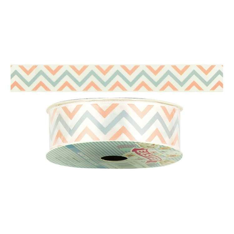 Happy Easter Chevron Satin Ribbon