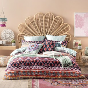 Ombre Home Boho Bloom Aziza Quilt Cover Set