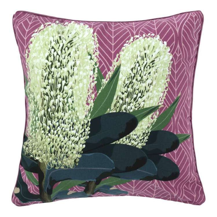 Ombre Home Boho Bloom Camilla Banksia Cushion Pink 45 x 45 cm