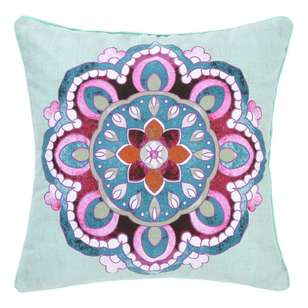 Ombre Home Boho Bloom Aziza Floral Cushion