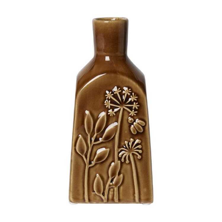 Living Space Bohemian Gypsy Amber Ceramic Vase