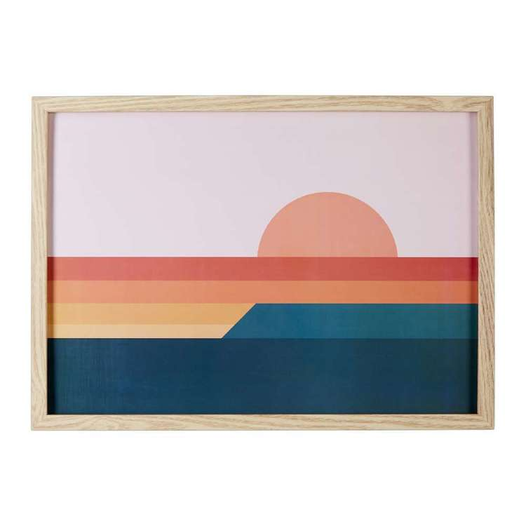 Cooper & Co Geo Sunset Framed Print Multicoloured A3