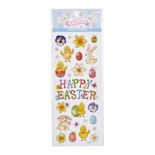 Happy Easter Stickers Luxe Bunny Pansies
