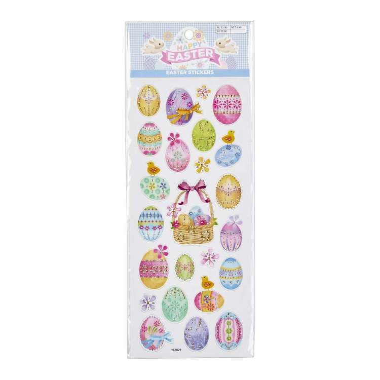 Happy Easter Stickers Luxe Eggs Decorative