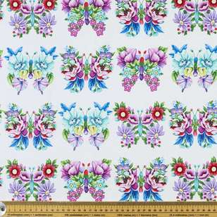 Studio E Sweet Perfume Floral Butterfly Cotton Fabric