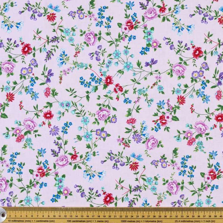Studio E Sweet Perfume Floral Vine Cotton Fabric