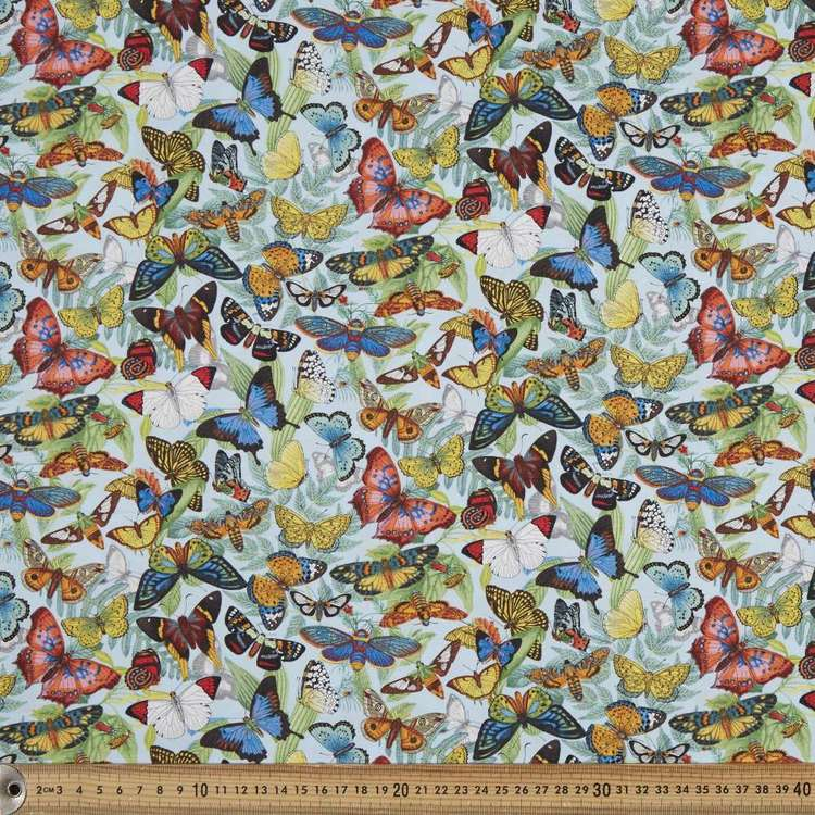 Elizabeth's Studio Botanicals Butterfly Allover Cotton Fabric