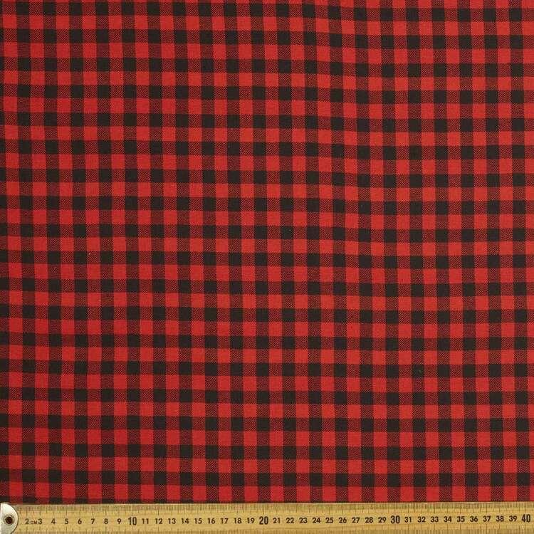 Small Check Flannelette 148 cm Fabric