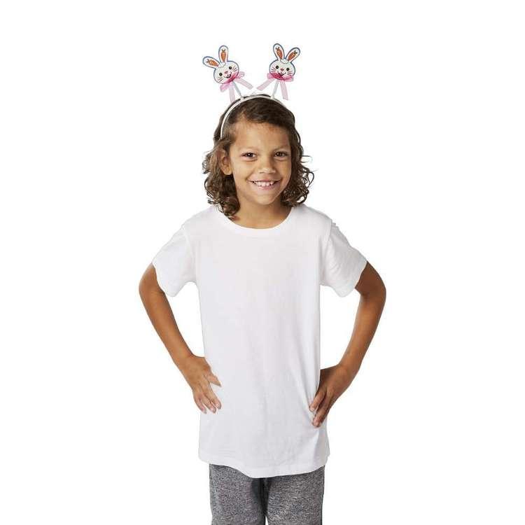 Happy Easter Bunny Bobble Headband