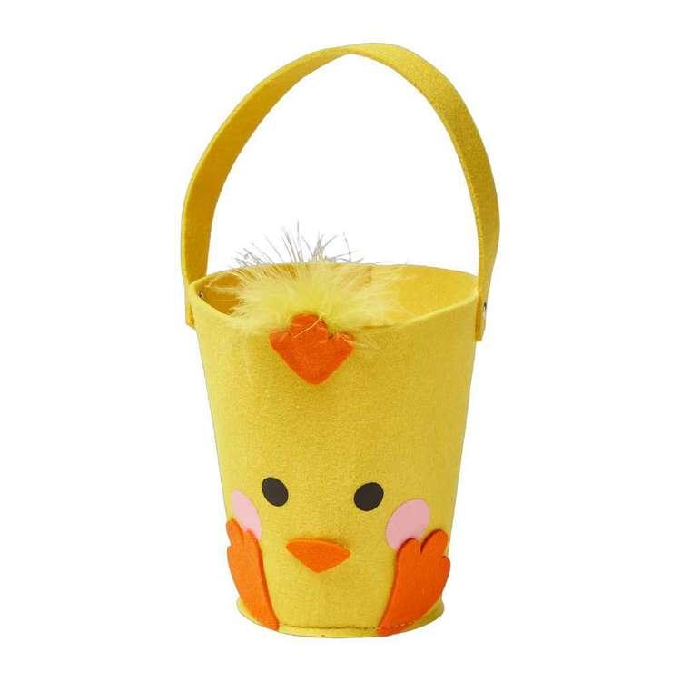 Happy Easter Felt Chicken Bucket