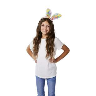 Happy Easter Pom Pom Bunny Headband
