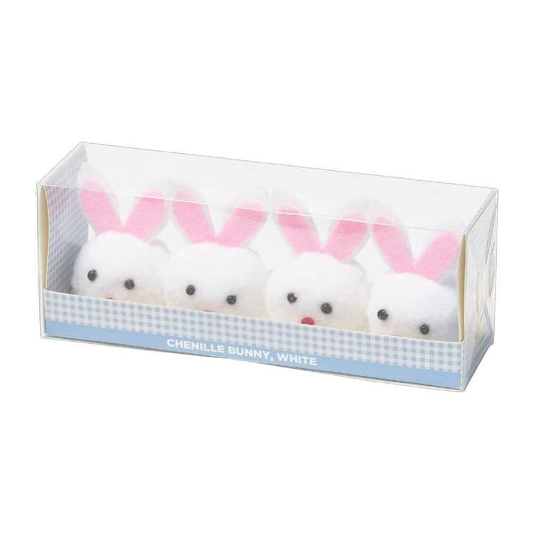 Happy Easter Chenille Bunnies 4 Pack
