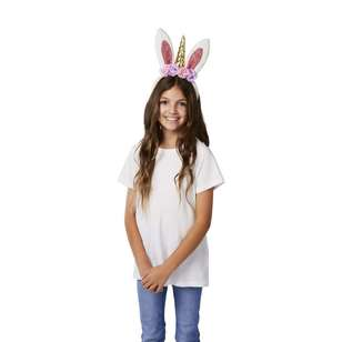 Happy Easter Unicorn Flower Headband