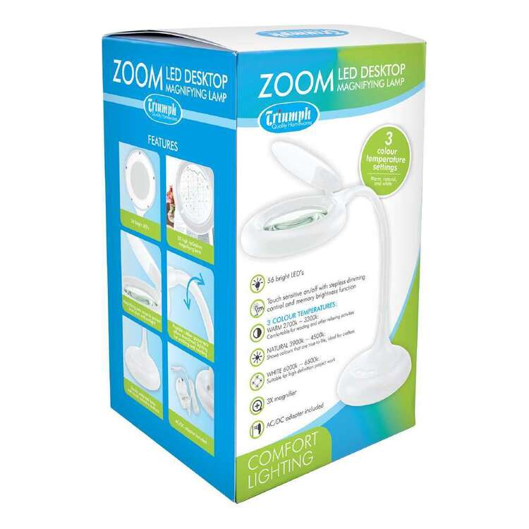 Triumph Zoom LED Desktop Magnifying Lamp