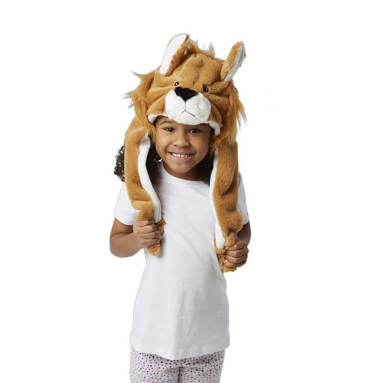 Party Creator Lion Moving Ears Hat Orange
