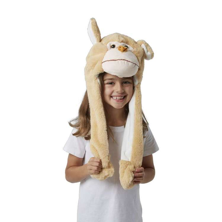 Party Creator Monkey Moving Ears Hat Brown