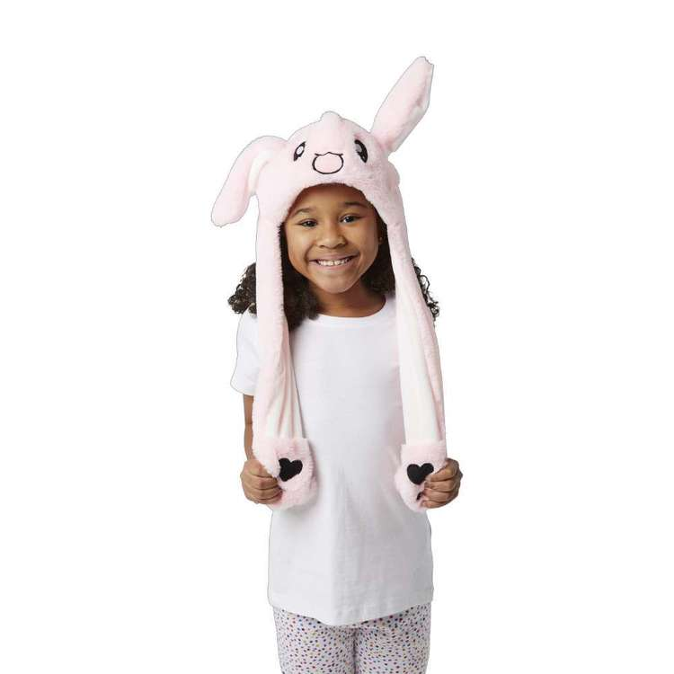 Party Creator Pink Bunny Moving Ears Hat Pink