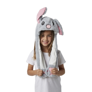 Party Creator Grey Bunny Moving Ears Hat
