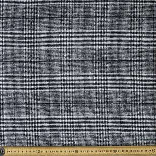 Houndstooth Check 145 cm Wool Suiting Fabric