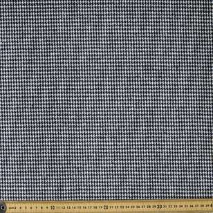 Houndstooth 145 cm Wool Suiting Fabric