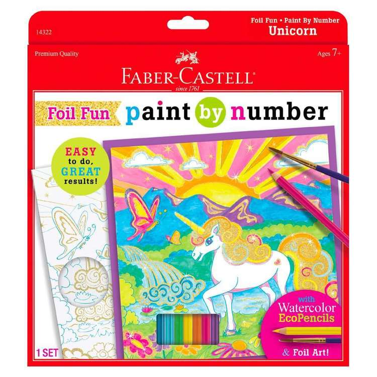 Faber Castell Paint By Number Foil Fun  Unicorn