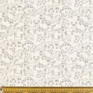 Forest Friends Printed Poplin Fabric