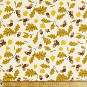 Nuts Printed Poplin Fabric