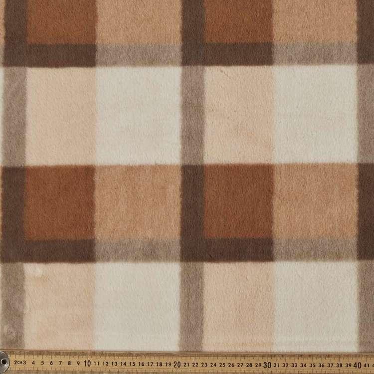Super Soft Fur Checks Fabric