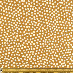 Dots Printed Cotton Duck Fabric