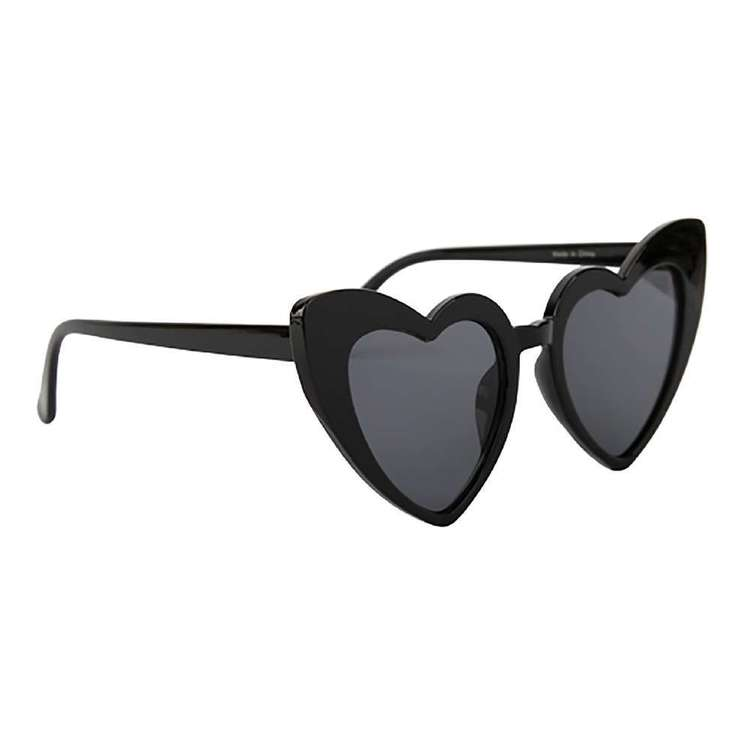 Be Yourself Black Heart Fashion Spectacles