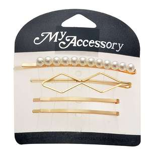 My Accessory Pearl & Gold Bobby Pins 4 Pack