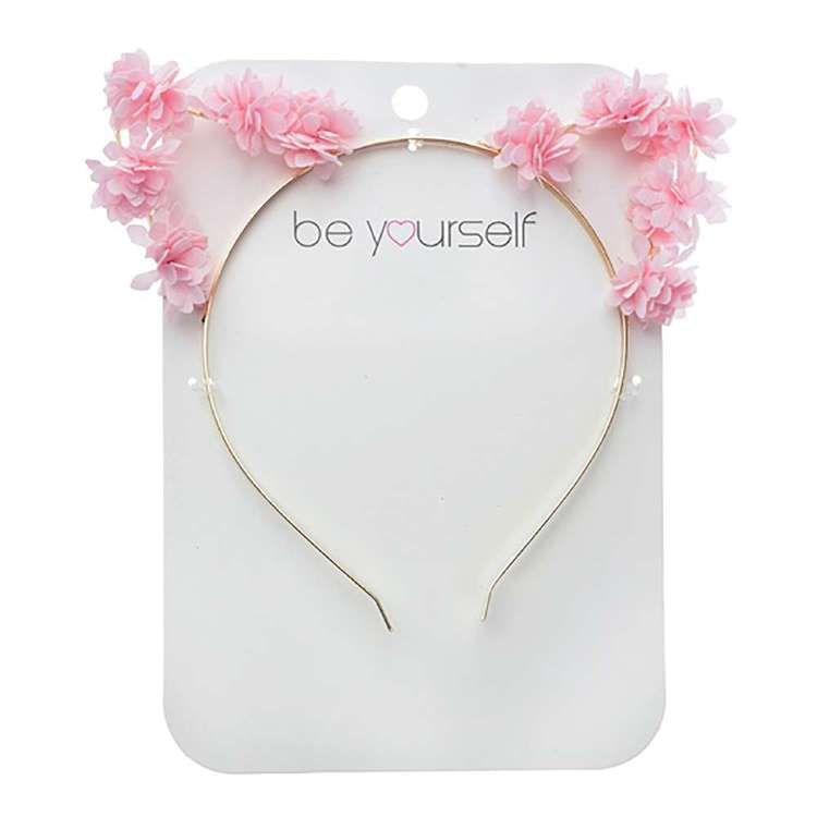 Be Yourself Floral Cat Ear Alice Band