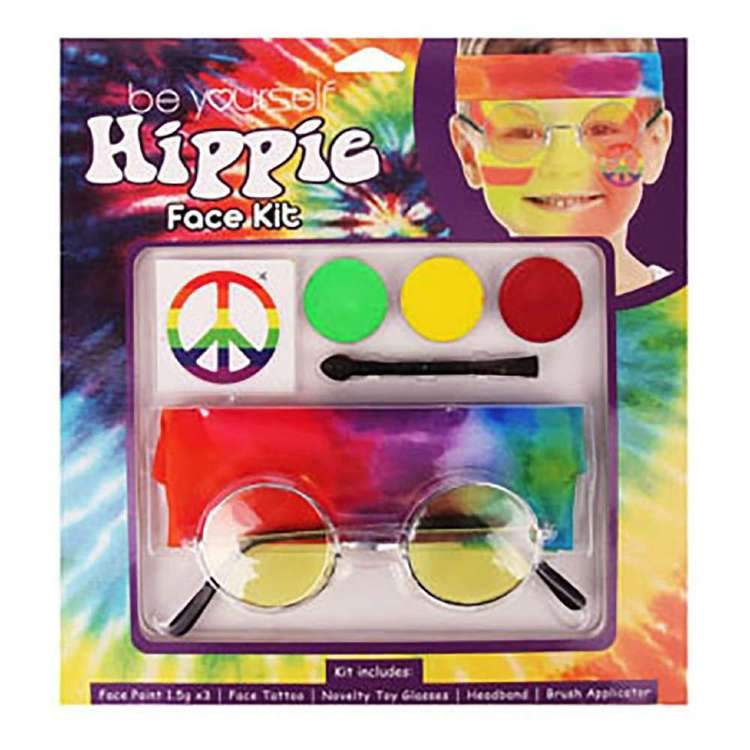 Be Yourself Hippie Face Kit