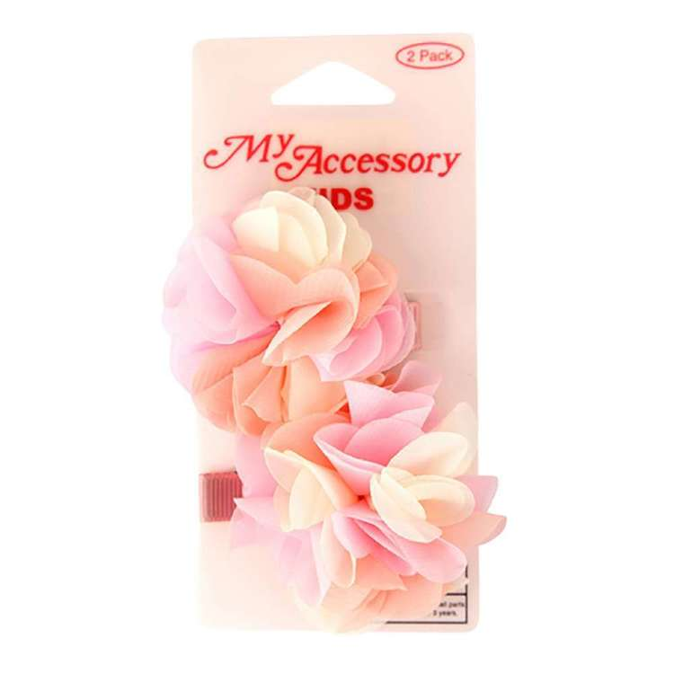 My Accessory Kids Pastel Flower Duck Clip 2 Pack