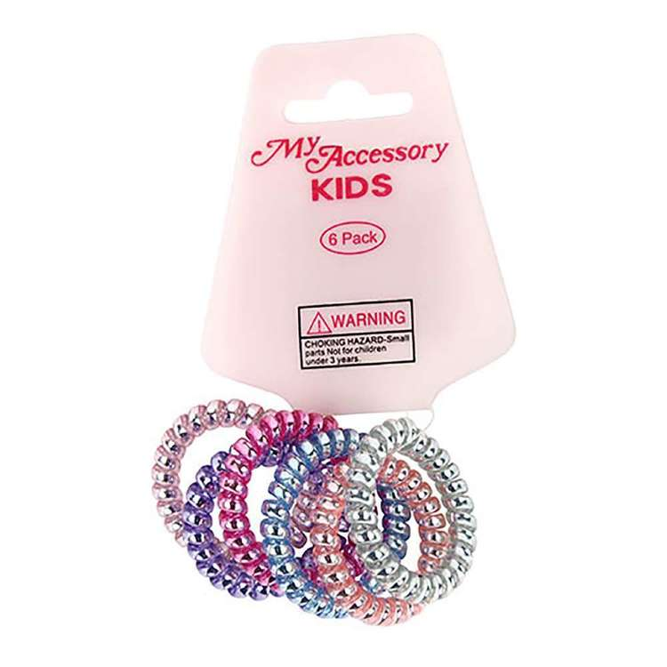 My Accessory Kids Spring Pastel Hair Rings 6 Pack