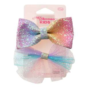 My Accessory Kids Tulle Pastel Bow Duck Clip 2 Pack
