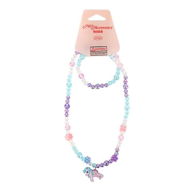 My Accessory Kids Unicorn Necklace & Bracelet Set
