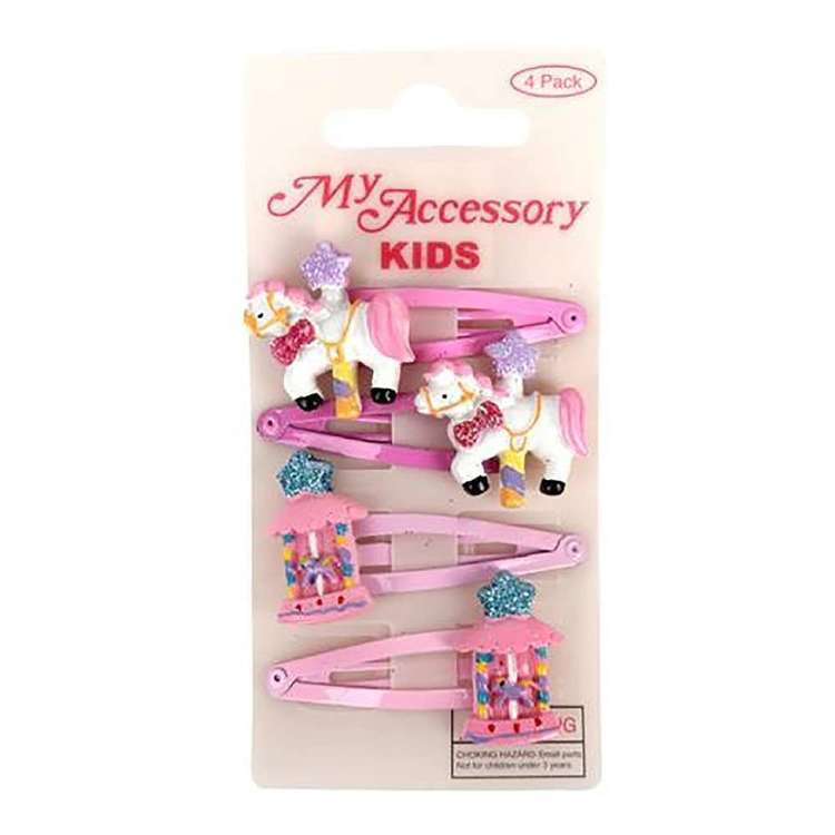 My Accessory Kids Carousel Sleepie Clip 4 Pack