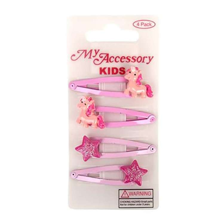 My Accessory Kids Unicorn Star Sleepie Clip 4 Pack