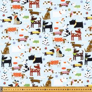 Fetch Printed 112 cm Flannelette Fabric