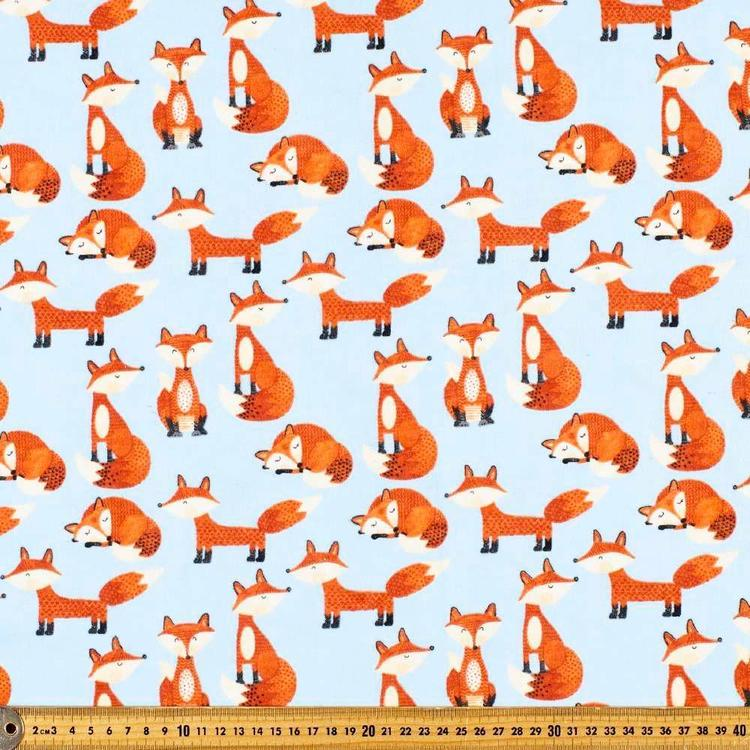 Looking Foxy Printed 112 cm Flannelette Fabric