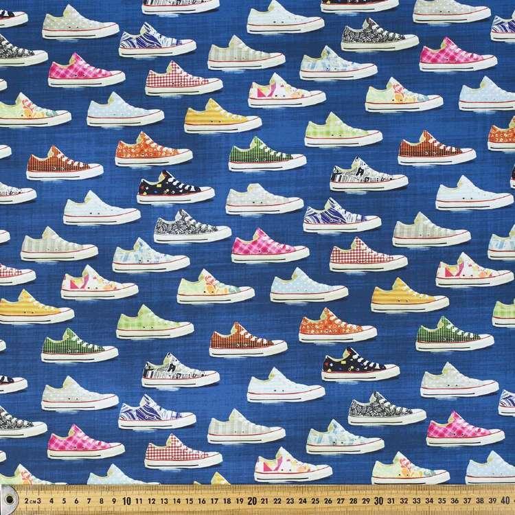 Shoes Printed 150 cm Trunks Microfiber Fabric