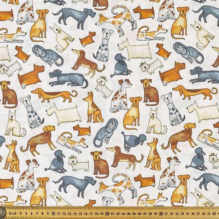 Lotsa Dogs Printed 112 cm Cotton Poplin Fabric