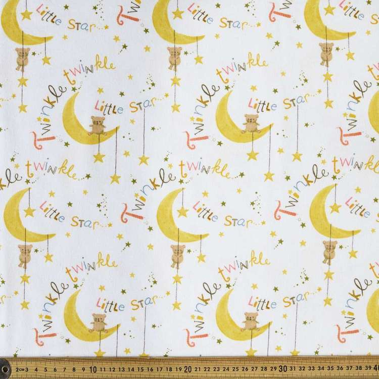 Twinkle Printed 112 cm Flannelette Fabric