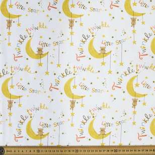 Twinkle Printed 112 cm Flannelette Fabric